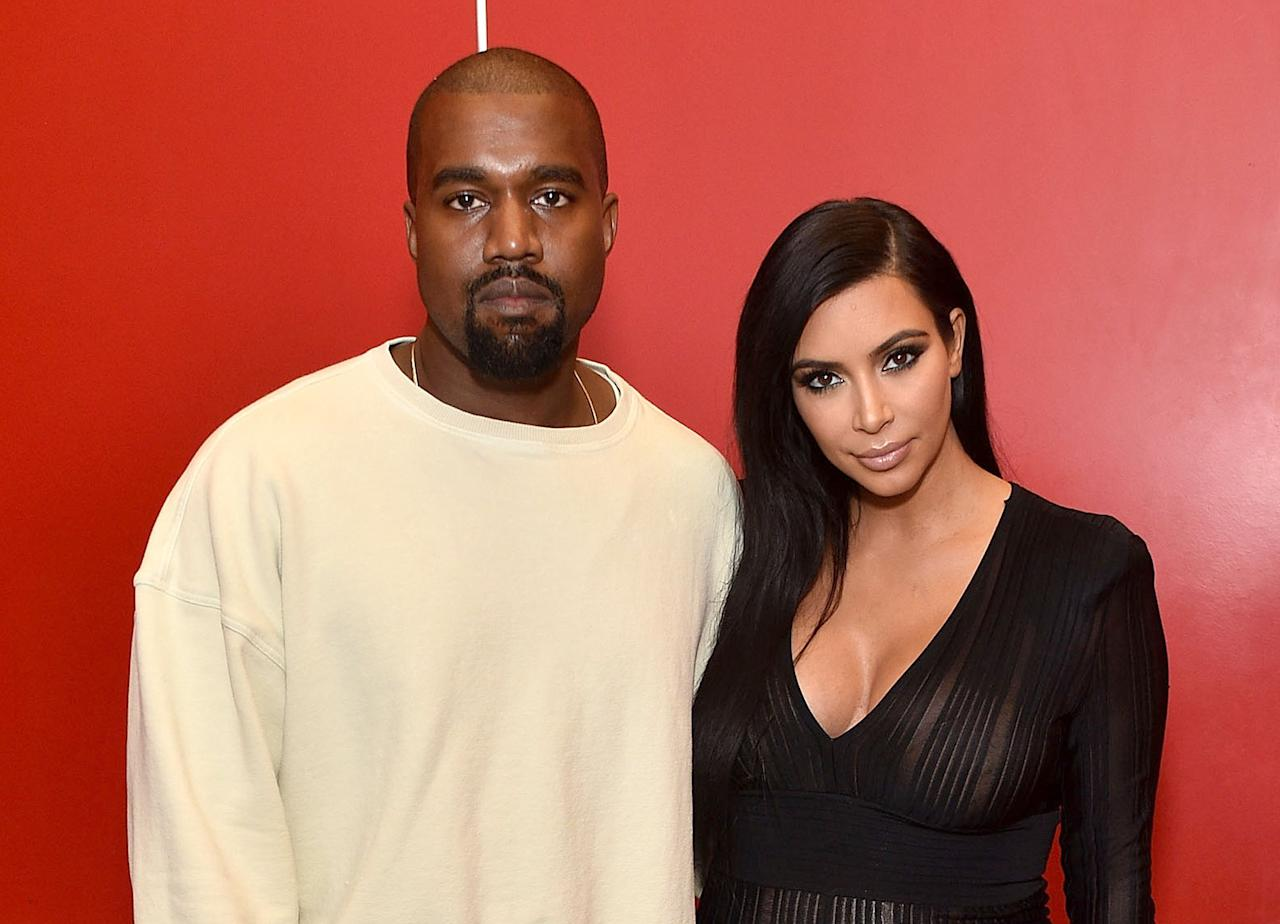 """<p>Following her 72-day marriage to Kris Humphries, Kim Kardashian began dating Kanye West back in 2012 — while still fighting to legally end her prior union. """"They have been close friends for years and decided to give it a try [with dating],"""" a source close to the couple revealed at the time. Unsurprisingly, the rapper made his feelings for Kardashian known. In his song """"Theraflu,"""" West sings, """"I admit I fell in love with Kim … 'Round the same time she fell in love with him … That's cool, babygirl, do your thing … Lucky I ain't had Jay drop him from the team."""" (West was referring to his pal Jay Z who then owned the New Jersey Nets, the team Humphries played for at the time.)</p>"""