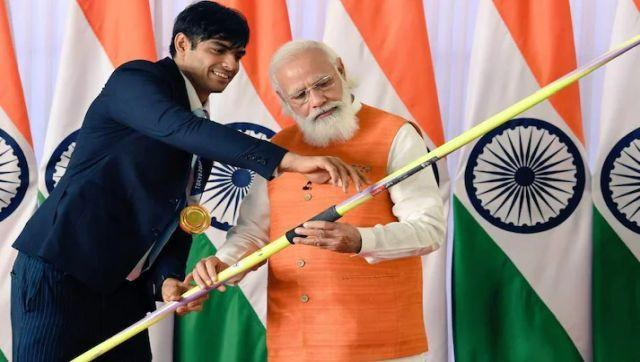 The javelin that Neeraj Chopra, India's first gold medal at the Olympics is being auctioned with a base price of Rs 75 lakh and is expected it to fetch above crores. The javelin has been signed by Neeraj himself, giving his regards to Modi. Image Courtesy: https://pmmementos.gov.in/
