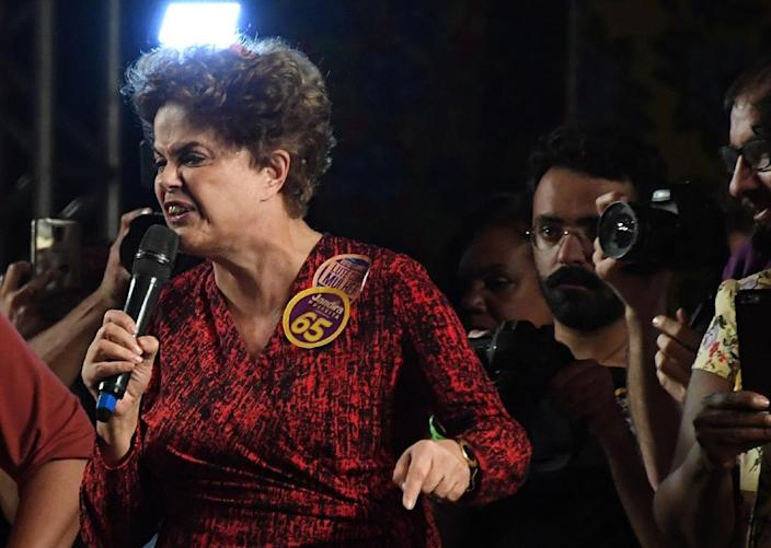 Already reeling from the impeachment of former president Dilma Rousseff, the once dominant Workers' Party looks set to lose a slew of local seats (AFP Photo/Vanderlei Almeida)