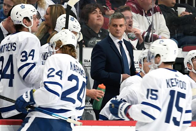 Sheldon Keefe couldn't have asked for more. (Photo by Norm Hall/NHLI via Getty Images)