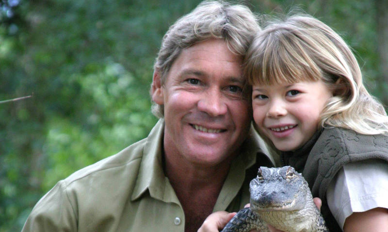 Bindi Irwin was just eight year old when her father Steve died. (Photo by Newspix/Getty Images)
