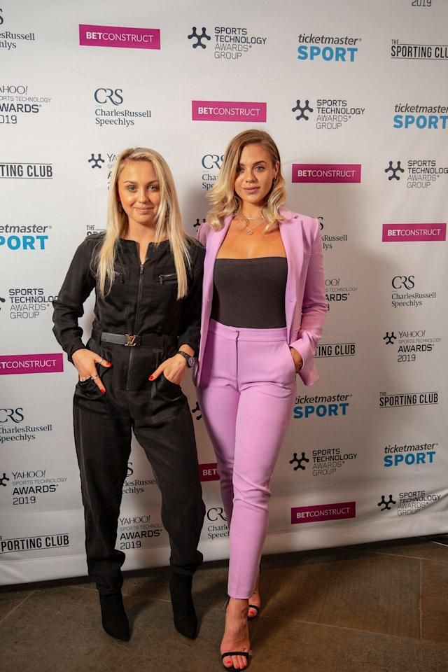 Aimee Fuller and Laura Crane at the Sports Technology Awards