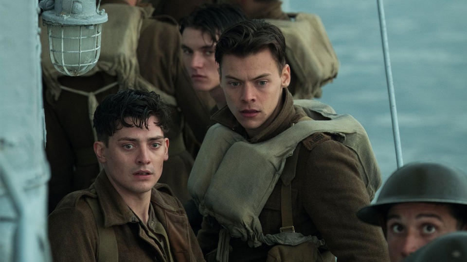 Harry Styles made his acting debut in Christopher Nolan's 2017 war film 'Dunkirk'. (Credit: Warner Bros)