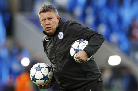 Leicester City manager Craig Shakespeare during the warm up before the match