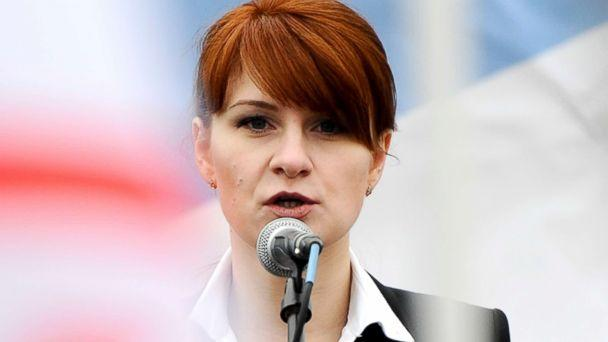 PHOTO: Maria Butina, leader of a pro-gun organization in Russia, speaks to a crowd during a rally in support of legalizing the possession of handguns in Moscow, Russia, April 21, 2013. (AP)