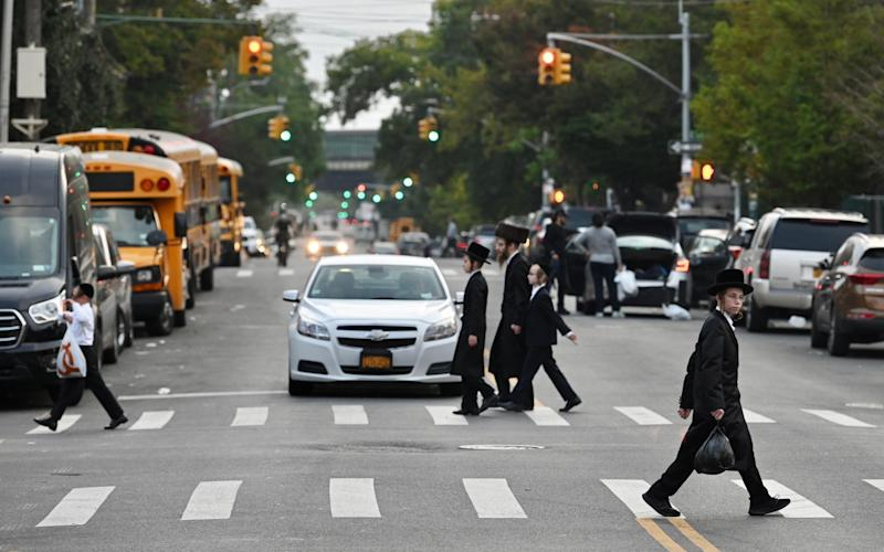 Borough Park is one of numerous Brooklyn neighbourhoods seeing a spike in cases - Alexi Rosenfeld/Getty Images