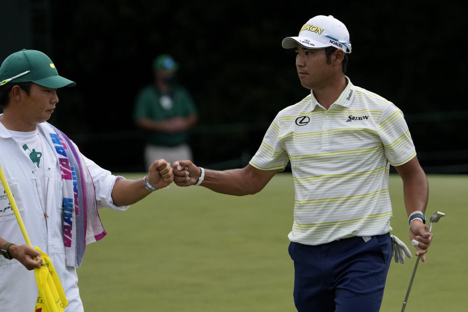Hideki Matsuyama won his first Masters despite 40-to-1 odds before the tournament. (AP Photo/Gregory Bull)