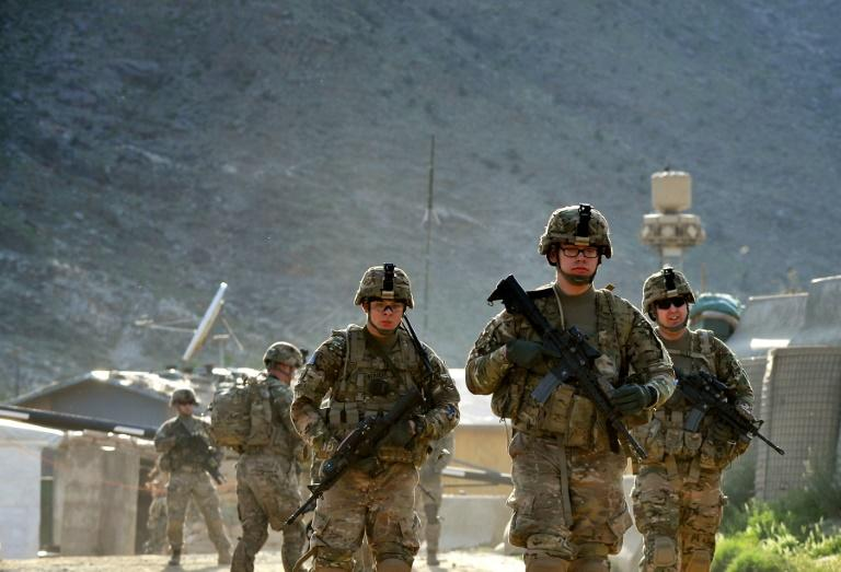 US soldiers on patrol with Afghan troops in Afghanistan's Kunar province in 2013