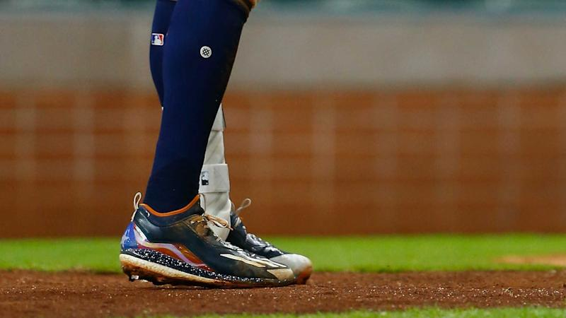 81c0248405e Astros  Carlos Correa wears his heart on his cleats as Maria approaches  Puerto Rico