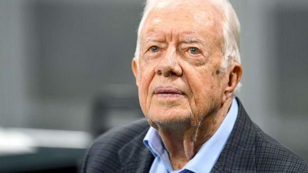 PHOTO: Former president Jimmy Carter prior to the game between the Atlanta Falcons and the Cincinnati Bengals, Sept. 30, 2018. (Scott Cunningham/Getty Images)