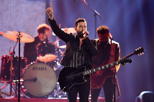 <p>Matthew Ramsey of Old Dominion performs onstage at the 51st annual CMA Awards at the Bridgestone Arena on November 8, 2017 in Nashville, Tennessee. (Photo by John Shearer/WireImage) </p>