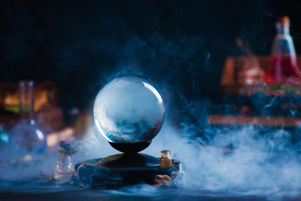 <p>The mysterious smoke around the crystal ball makes it even scarier. </p>