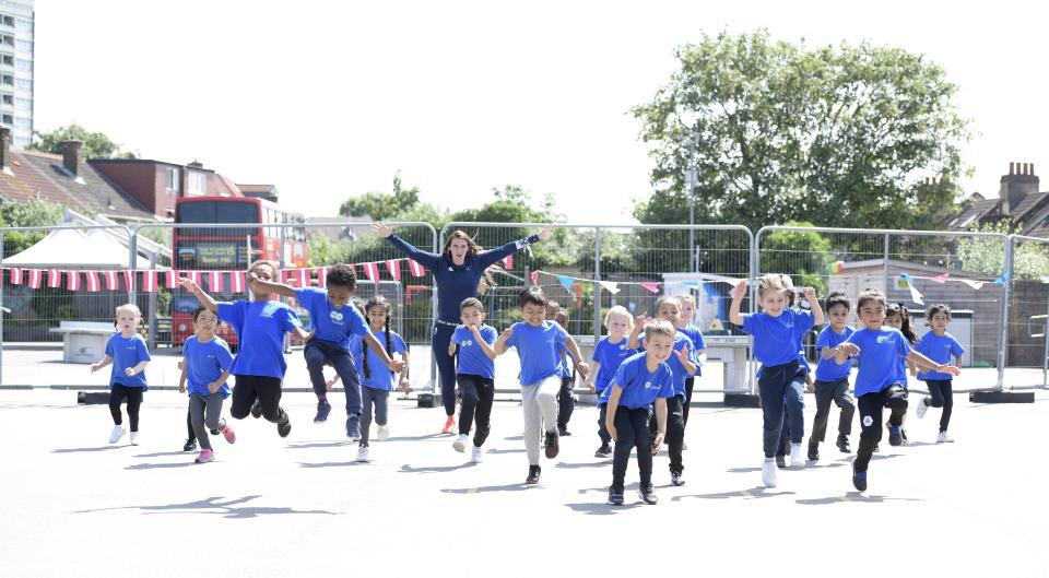 Pupils at Curwen Primary School got the exciting opportunity to meet two-time Olympic silver medallist Jazz Carlin