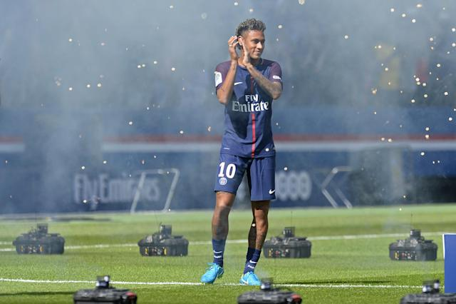 "<a class=""link rapid-noclick-resp"" href=""/olympics/rio-2016/a/1215128/"" data-ylk=""slk:Neymar"">Neymar</a>'s blockbuster signing is one of the capstones to PSG's evolution into a powerhouse club. (Getty)"