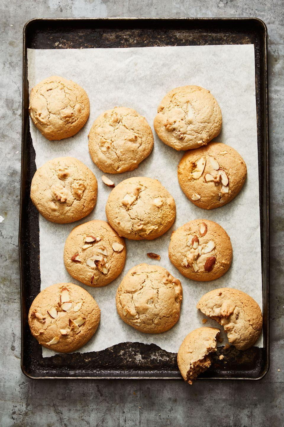 """<p>Use any type of nut butter (peanut, almond, cashew, whatever you like!) to bake these under-30-minute treats.</p><p><em><a href=""""https://www.goodhousekeeping.com/food-recipes/a34659654/chunky-nut-butter-cookies-recipe/"""" rel=""""nofollow noopener"""" target=""""_blank"""" data-ylk=""""slk:Get the recipe for Chunky Nut Butter Cookies »"""" class=""""link rapid-noclick-resp"""">Get the recipe for Chunky Nut Butter Cookies »</a></em></p>"""