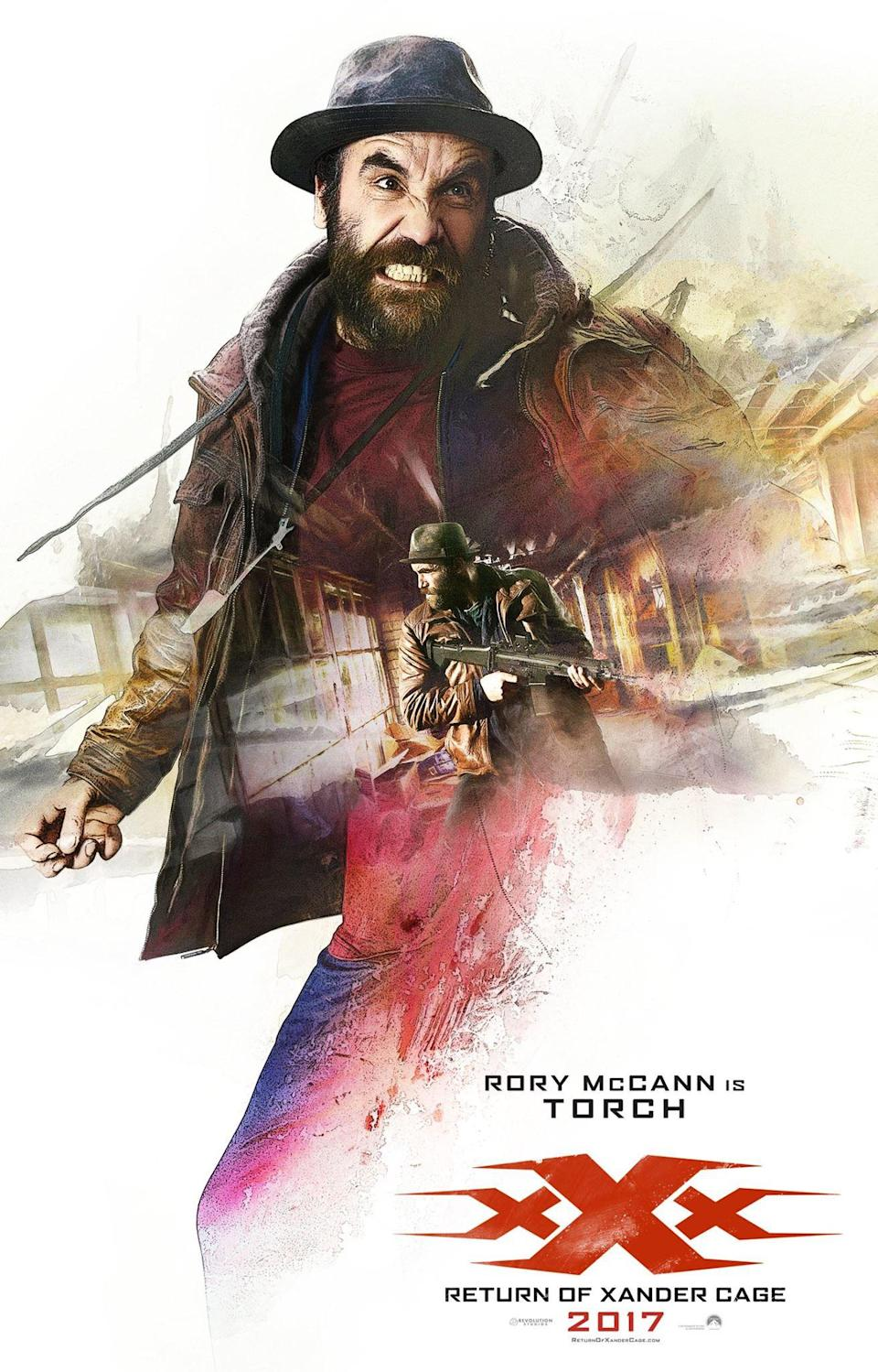 <p>Rory McCann is Torch – Credit: Paramount </p>