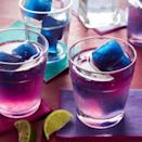 <p>Pour homemade margarita mix over ice cubes made from blue pea flower tea and watch your cocktail change colors before your eyes without any artificial food dye. It's sure to be your new favorite party trick. Blue pea flower tea (also called butterfly pea tea) is an herbal tea from Southeast Asia that changes from blue to purple when mixed with an acidic ingredient (like the lime juice in this margarita recipe).</p>
