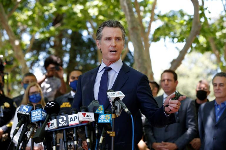 """""""What the hell is wrong with us, and when are we going to come to grips with this?"""" asked California Governor Gavin Newsom at a press conference"""