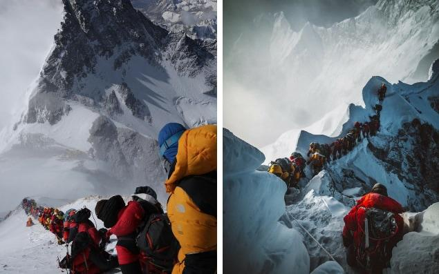 Elia Saikaly reveals scenes of congestion on Everest - Elia Saikaly