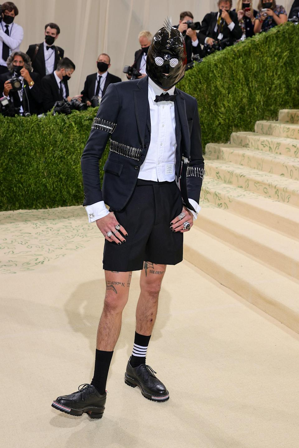 """<h1 class=""""title"""">Evan Mock, The 2021 Met Gala Celebrating In America: A Lexicon Of Fashion - Arrivals</h1><cite class=""""credit"""">Getty</cite>"""