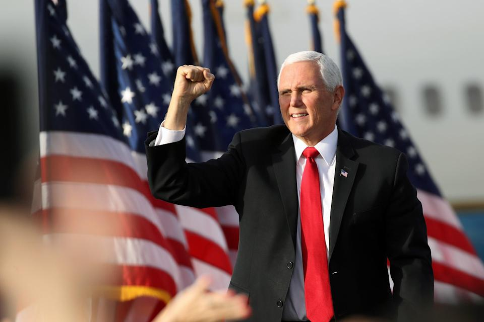 Pence ignores chants of four more years at Georgia rally as he distances himself from president (Getty Images)