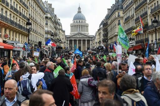 Protest organisers chartered two high-speed TGV trains and around 100 buses to bring people to Paris