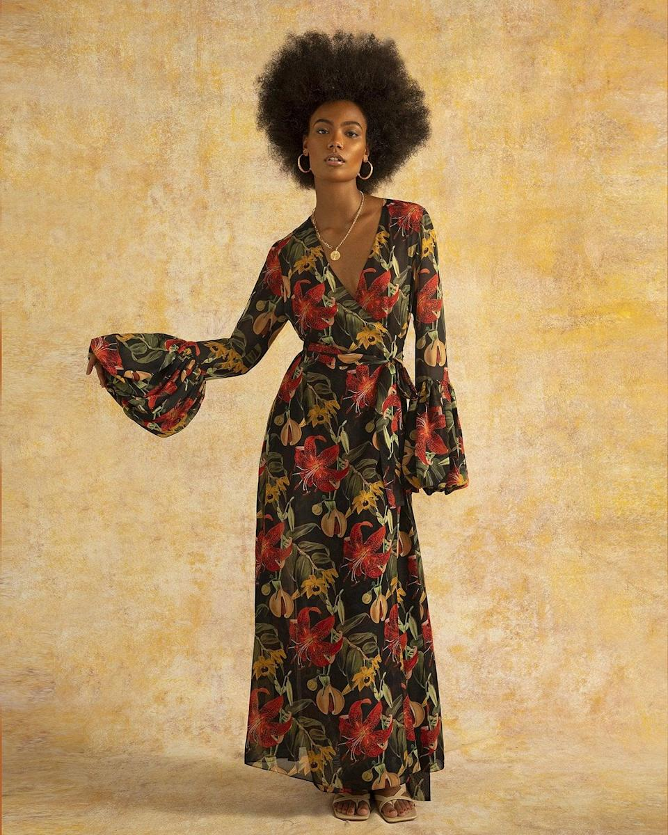 <p>The print on this <span>Fe Noel Isle of Spice Wrap Dress</span> ($830) is so beautiful, we wish we could wear it every day. This piece would be great for a fall vacation.</p>