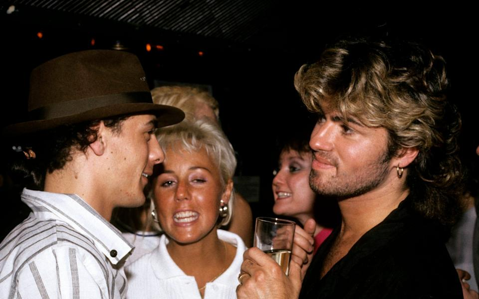 George Michael with Shirley Holliman - Redferns