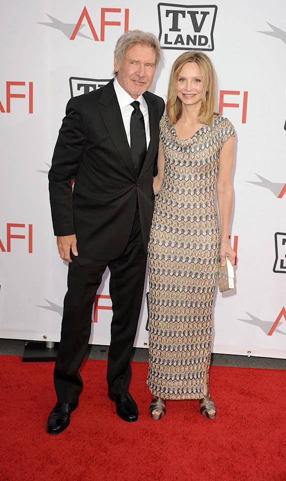 "<a href=""http://movies.yahoo.com/movie/contributor/1800017113"">Harrison Ford</a> and <a href=""http://movies.yahoo.com/movie/contributor/1800018593"">Calista Flockhart</a> attend the 38th Annual Lifetime Achievement Award Honoring Mike Nichols at Sony Pictures Studios on June 10, 2010 in Culver City, California."