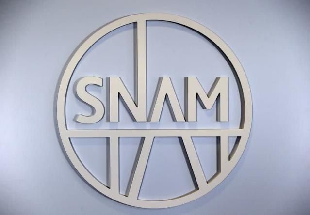 FILE PHOTO: Italian gas transport group Snam logo is seen at the headquater in San Donato Milanese