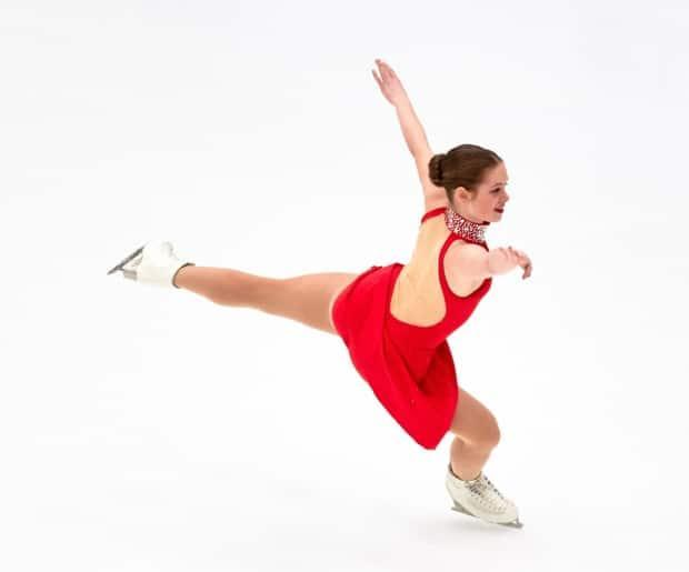 Yukon figure skater Mikayla Kramer competing at the 2019 Canada Winter Games. Kramer heads to the U.S. next month to join the cast of Disney On Ice. (Stephen Anderson Lindsay - image credit)
