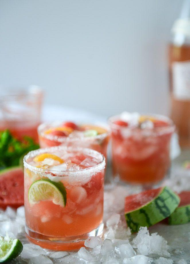 """<p>Rosé (and margs) all day.</p><p>Get the recipe from <a href=""""http://www.howsweeteats.com/2016/08/watermelon-rose-margaritas/"""" rel=""""nofollow noopener"""" target=""""_blank"""" data-ylk=""""slk:How Sweet It Is"""" class=""""link rapid-noclick-resp"""">How Sweet It Is</a>.</p>"""