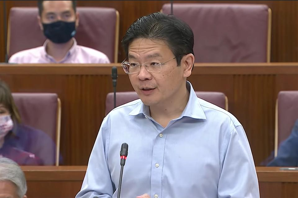 Minister for Education Lawrence Wong. (YouTube screengrab)
