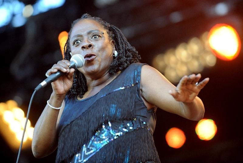 US singer Sharon Jones pictured in 2012 performing at the Art Rock Festival in Saint-Brieuc, France