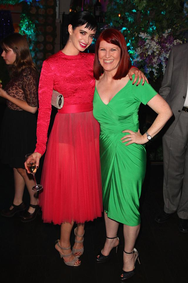 Actresses Krysten Ritter and Kate Flannery attend Variety and Women in Film Pre-EMMY Event presented by Saint Vintage at Montage Beverly Hills on September 21, 2012 in Beverly Hills, California.  (Photo by Joe Scarnici/WireImage)