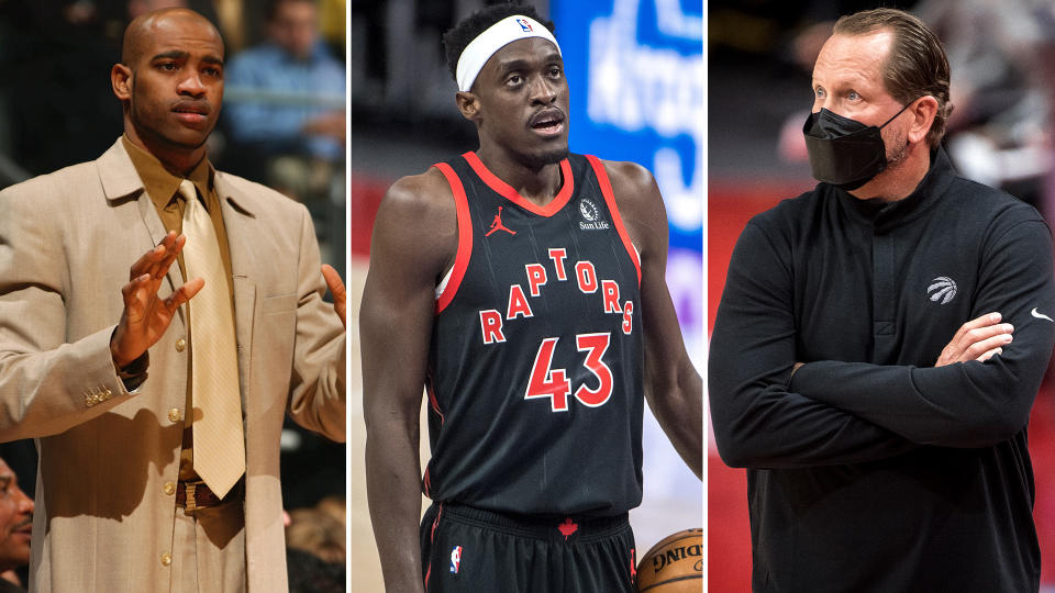 Vince Carter, Pascal Siakam and Nick Nurse have all felt the wrath of Raptors fans at one point or another. (Getty Images)