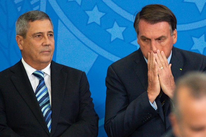 Bolsonaro durante posse de Braga Netto como ministro da Casa Civil (Getty Images)