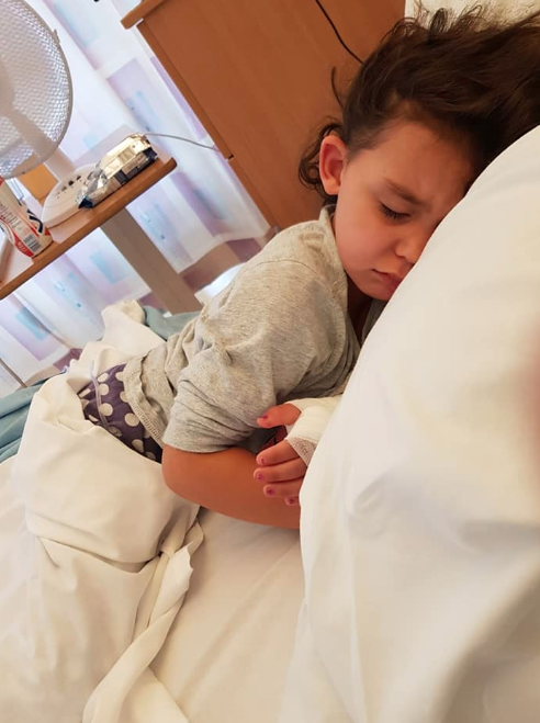 Four-year-old Sienna Rasul was hospitalized for five days after she developed sepsis. Image via Facebook.