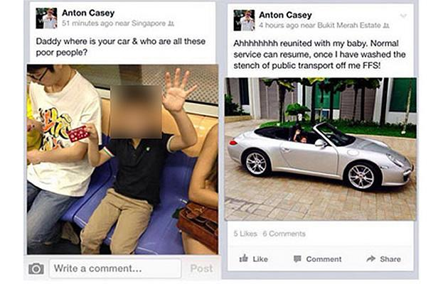 Former wealth manager Anton Casey drew flak after posting these offensive remarks. (Internet screengrab)