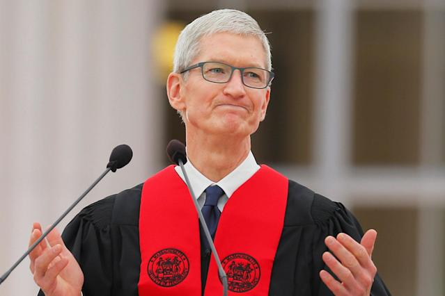 <p>Sorry Tim Cook, Apple isn't the top pick for either business or IT students — but it does rank pretty highly. (CNBC) </p>