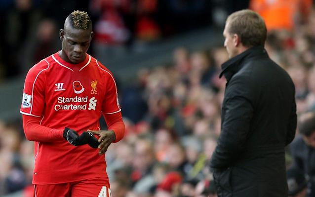 <span>Brendan Rodgers watches on as Mario Balotelli is subbed</span> <span>Credit: Action Images </span>
