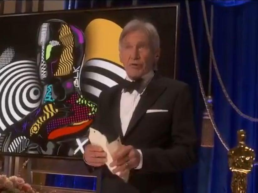Harrison Ford appearing at the 93rd Academy Awards (Oscars)
