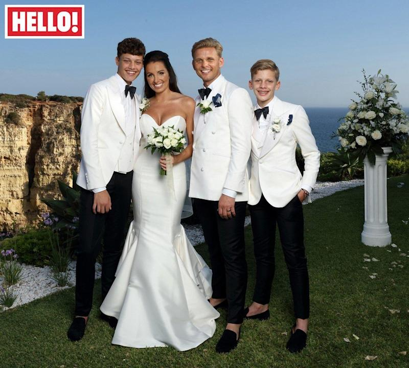 Happy family: Jeff Brazier and Kate Dwyer tie the knot (PA)