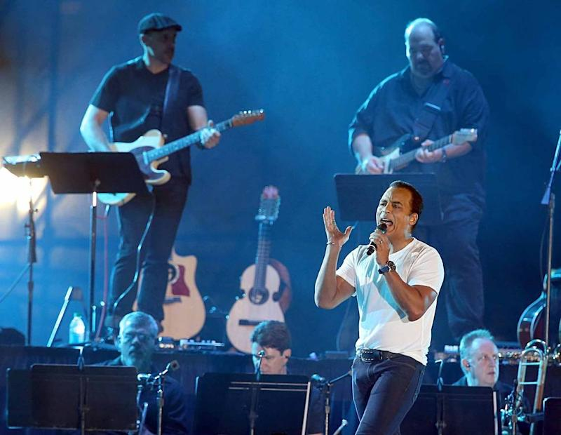 Jon Secada performs during the Hard Rock Rising Miami Beach, Global Music Festival, celebrating the 100th Birthday of the City of Miami Beach, on Thursday March 26, 2015.
