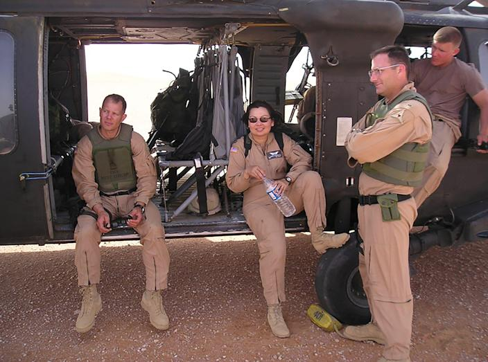 Duckworth served as a helicopter pilot during the Iraq War.