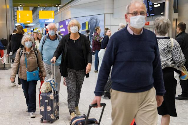 The government could suspend operations at airports under the coronavirus bill. (TOLGA AKMEN/AFP via Getty Images)