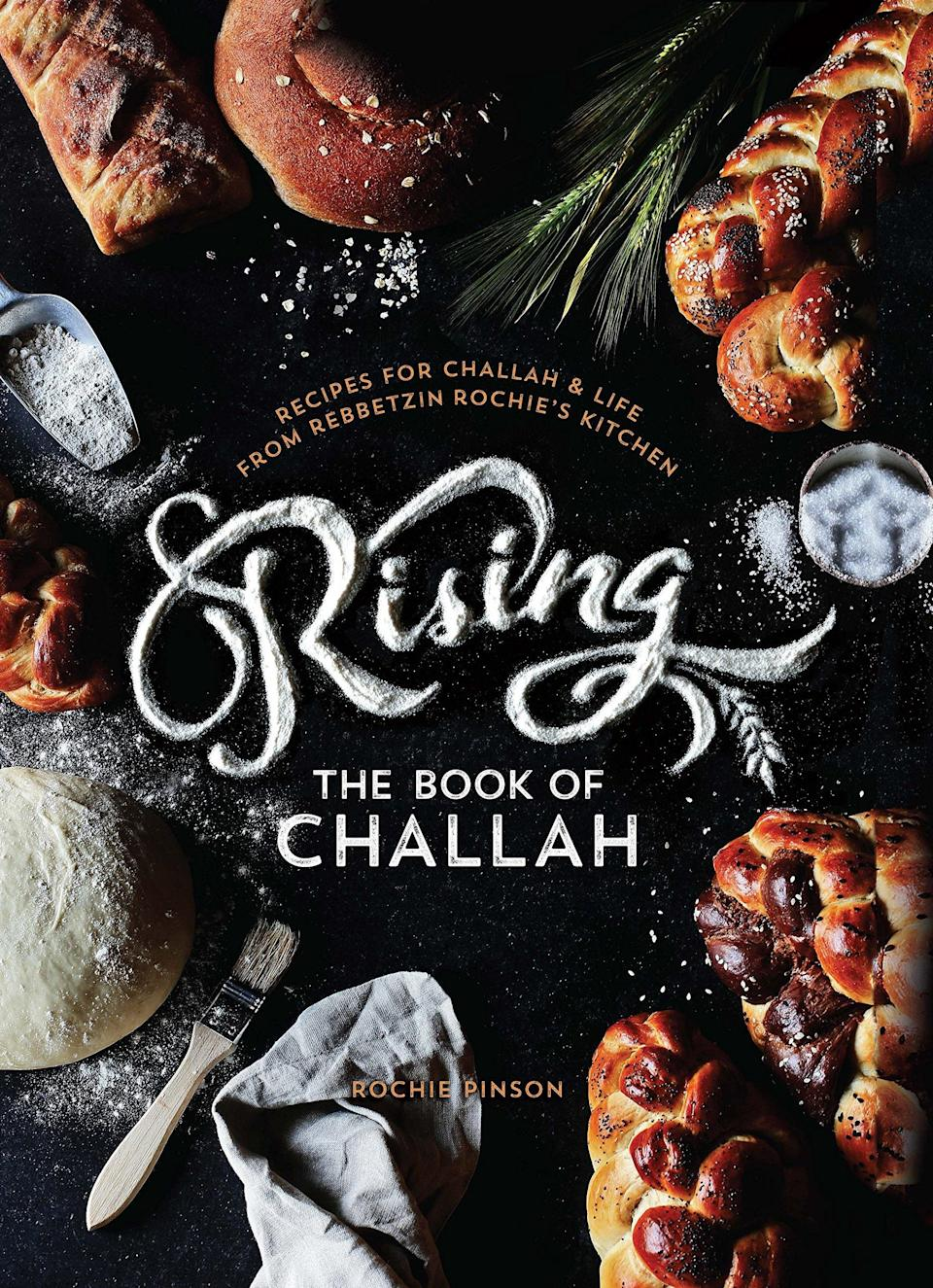 "Anyone that's ever had challah knows if done right, it's downright addicting (Basically the equivalent of an edible fluffy cloud, right?). But have you tried pretzel challah? Whole wheat challah? Gluten-free oat challah? Thanks to this beautiful book from Rebbetzin Rochie Pinson, you can. She shares her experiences from decades spent perfecting the art of challah <a href=""https://www.glamour.com/about/baking?mbid=synd_yahoo_rss"" rel=""nofollow noopener"" target=""_blank"" data-ylk=""slk:baking"" class=""link rapid-noclick-resp"">baking</a> and teaching workshops around the world. $36, Amazon. <a href=""https://www.amazon.com/RISING-Book-Challah-Rochie-Pinson/dp/0991472047"" rel=""nofollow noopener"" target=""_blank"" data-ylk=""slk:Get it now!"" class=""link rapid-noclick-resp"">Get it now!</a>"