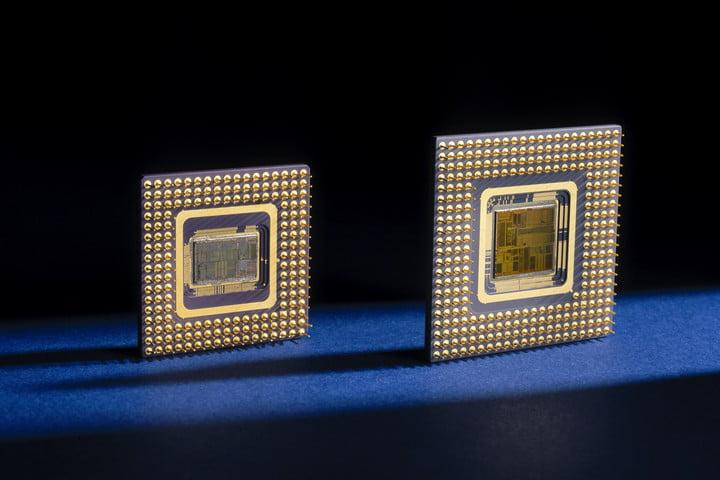 Intel 486 and Pentium microprocessors, 1989 and 1992.