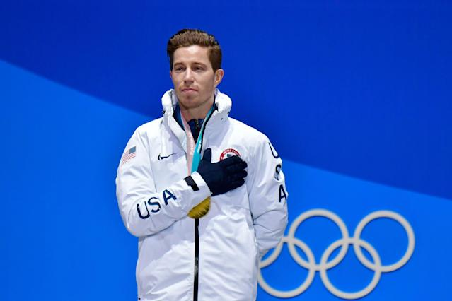 Shaun White was criticized for comments after winning his third Olympic gold medal Wednesday in PyeongChang. (Getty)