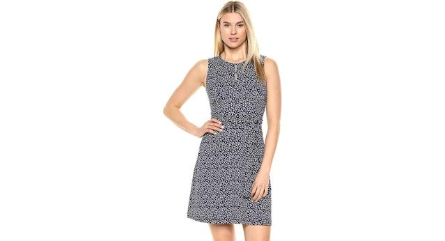 Lark & Ro Women's Sleeveless Crew Neck Belted A-Line Dress with Pockets (Photo: Amazon)